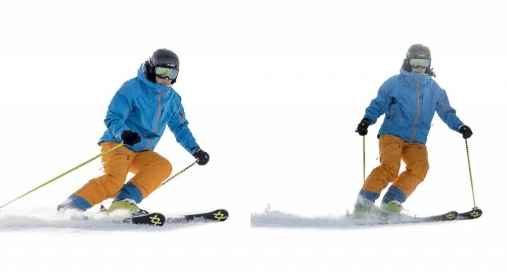 Gestionar la velocidad esquiando