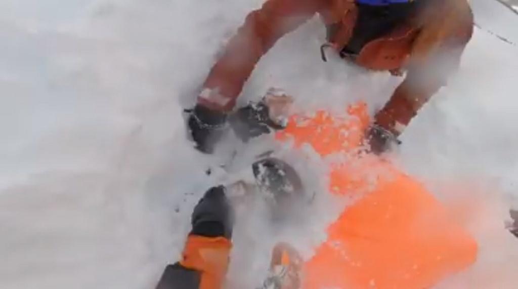 vídeo rescate avalancha Verbier