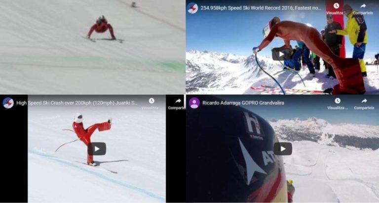 Los vídeos más impactantes del esquí de velocidad: récords, caídas, salvadas…