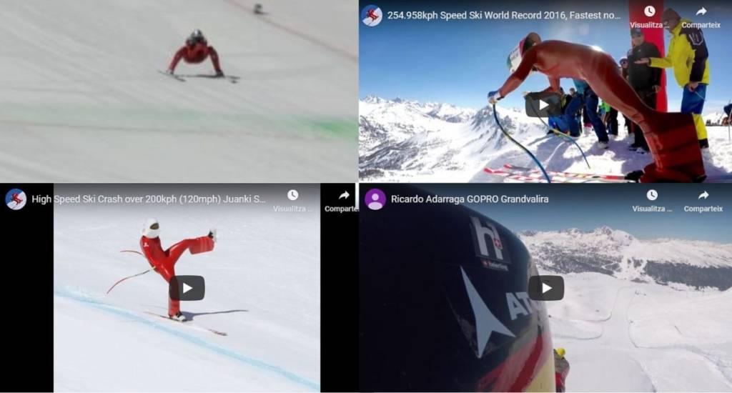 vídeos más impresionantes esquí de velocidad