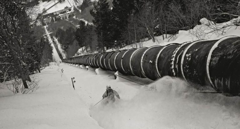 Arties Pipe Line: Hydroelectric Couloir