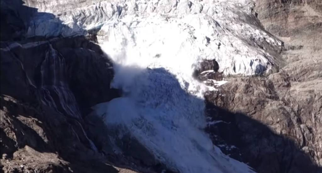 vídeo derrumbe glaciar Suiza