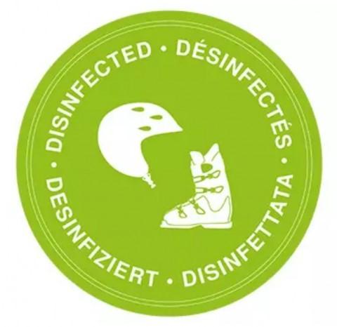 Pegatina desinfeccion