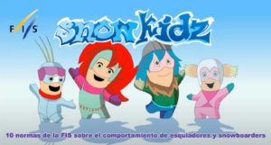 SnowKidz, los dibujos que enseñan las normas básicas de comportamiento en pistas