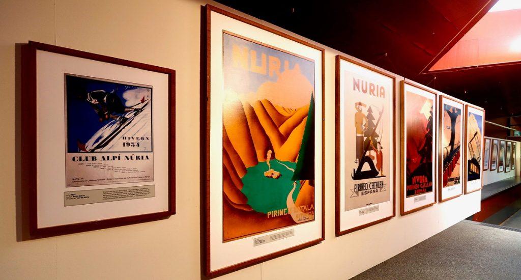 exposición carteles de Vall de Núria