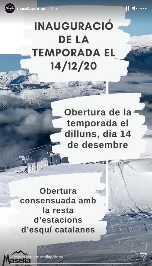primer dia de la temporada apertura estaciones catalanas