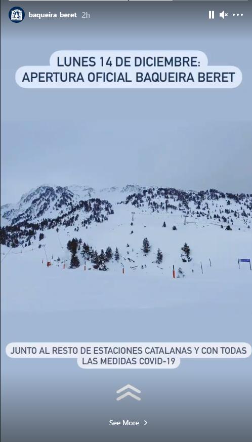apertura estaciones de esquí Baqueira