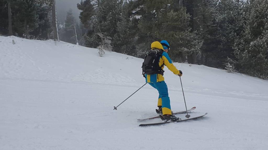 primer día de esquí