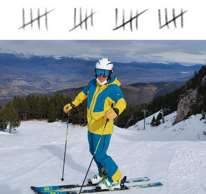 contar dias de esqui