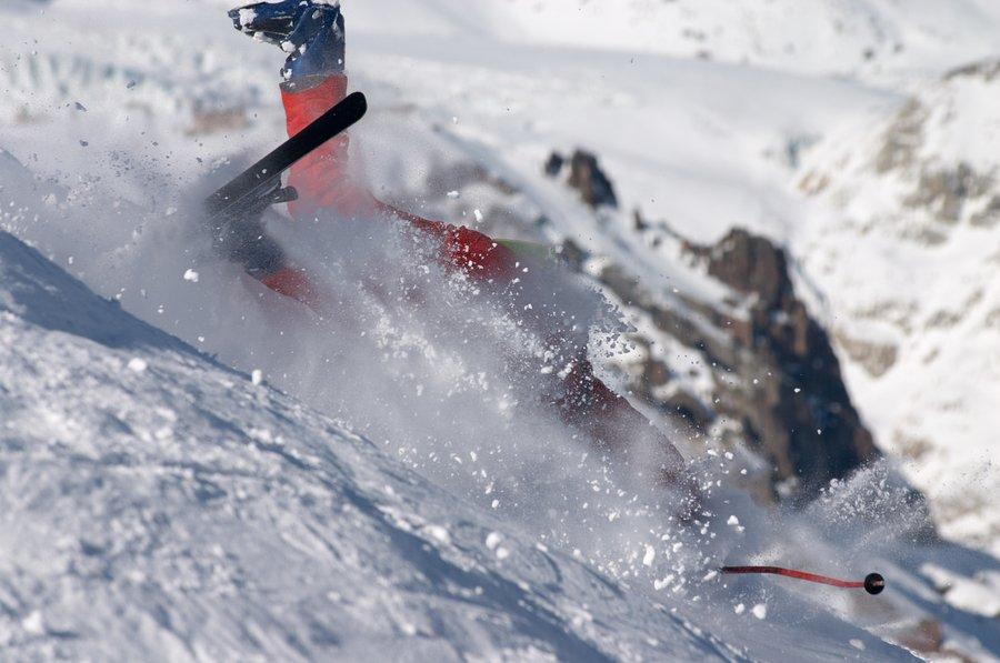 técnica de esquí caerse esquiando caída de esquí