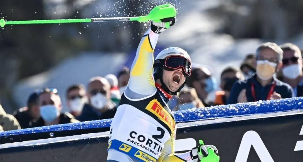 clasificación Slalom masculino Cortina 2021