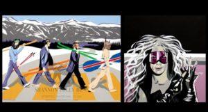 Arte, música y esquí unidos en las obras de Shannon Foley Henn