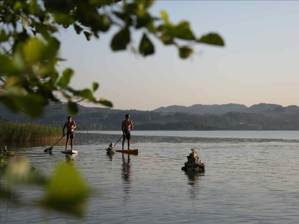 Paddle surf lago Aiguebelette