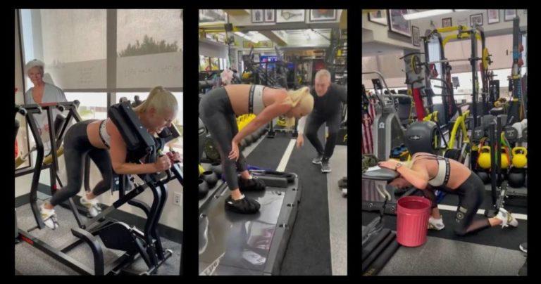 Lindsey Vonn, esto sí es buscar los límites entrenando
