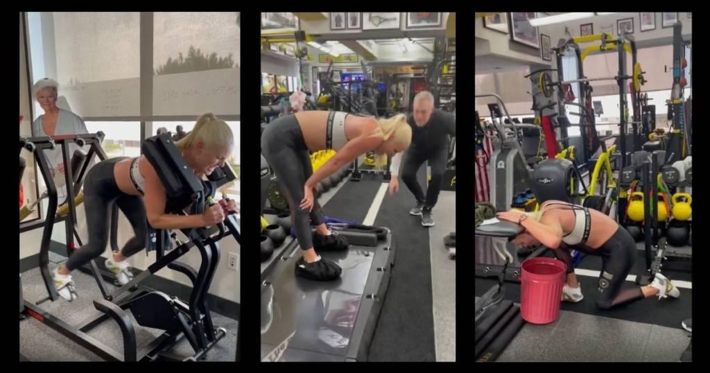 Lindsey Vonn buscar los límites entrenando